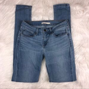 Levi's 535 Light Wash Blue Skinny Jean
